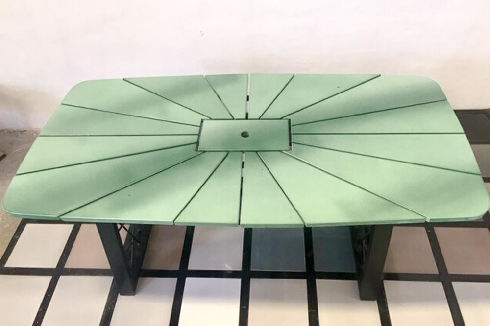 Enamelled Lava Stone dining table