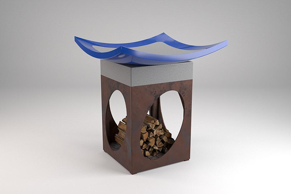 Outside Brazero Lava Stone Design
