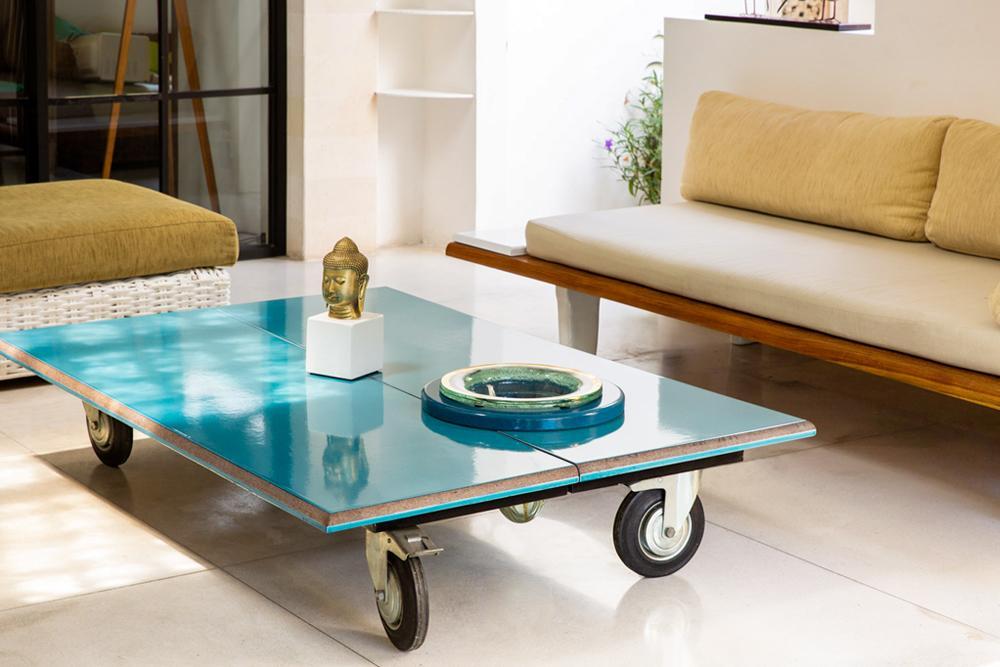 Glazed Lava stone coffee table